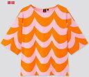 【2020夏最新コラボ】日本未上陸コラボ商品UNIQLO × Marimekkoユニクロ×マリメッコTシャツなみなみオレンジ