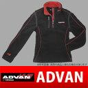 ADVAN ハーフジップアップフリース / ブラック 品番:F1639 / F1617 / F1618 / F1619 / F1620 / F1621 人気のアドバングッズ YOKOHAMA ヨコハマタイヤ