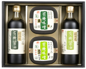 ★ choke sticking soy sauce and miso set JAS certified organic