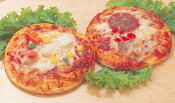 【冷凍】【日岡】 シーフードピザ 5インチ×3枚