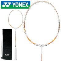YONEX ヨネックス ナノレイ450ライト バドミントンラケット ユニセックス 初級者・中級者向け ケース付き ガット別売り ガット張り上げ代無料 386ホワイト/オレンジ NR450LTの画像