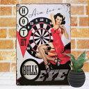 ブリキ看板 ポスター ダーツバーの女 インテリア 壁飾り 雑貨 小物 男前 絵画 一人暮らし