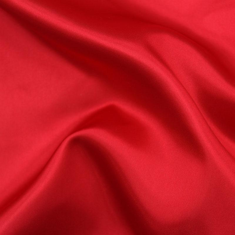 ポリエステルサテン 赤約122cm巾×10cm単位切り売り【サテン 布地 生地 無地 無地…...:tajima-ya:10004065