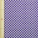 和調木綿<七宝文様(極小)>紫【布地 生地 和柄】【和柄生地】【RS】