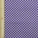 和調木綿<市松文様(極小)>紫【布地 生地 和柄】【和柄生地】【RS】