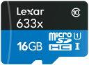 GoPro向けSDカード【Lexar(レキサー) microSDHCカード 16GB*ゴープロカメラに最適!【LSDMI16GB633A】