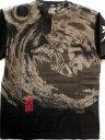 エヴァンゲリヲン X錦コラボ半袖Tシャツ 墨絵風月と初号機