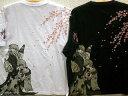 【大きいサイズ】エヴァンゲリオン X錦コラボ半袖Tシャツ レイとアスカに桜刺繍