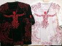 【大きいサイズ】エヴァンゲリオン X錦コラボ半袖Tシャツ ロンギヌスの槍プリント