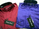 DropHead イタリアンカラー2枚襟 サテンドレスシャツ