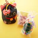 新宿高野 招き猫巾着袋 ブラック|ギフト チョコレート ゼリー チョコ 内祝い 果物 フルーツゼリー ...