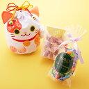 新宿高野 オリジナル招き猫巾着袋/ホワイト