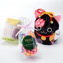 新宿高野 招き猫巾着袋E ブラック|フルーツチョコレート フ...