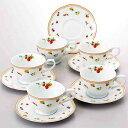 NARUMI【ナルミ】「シンフォニーサロン」コーヒーカップ&ソーサー5客セット5客碗皿 内祝い お返し 出産内祝い 結婚お祝い 結婚内祝い プレゼント コーヒー5客セット