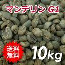 【送料無料(一部地域を除く)】コーヒー 生豆 マンデリン G1 10kg(5kg×2)