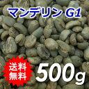 【送料無料】メール便 コーヒー 生豆 マンデリンG1 500g(250g×2)【同梱不可】