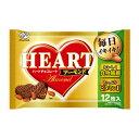 ショッピングチョコ (本州送料無料)不二家 12枚 ハートチョコレート(アーモンド)袋 (15×4)60入 (Y14)