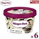 ハーゲンダッツ ミニカップクッキー&クリーム 6入(冷凍) 【ラッキーシール対応】
