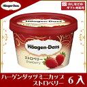 ハーゲンダッツ ミニカップストロベリー 6入(冷凍)