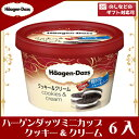 ハーゲンダッツ ミニカップクッキー&クリーム 6入(冷凍)(スーパーセール開催中)