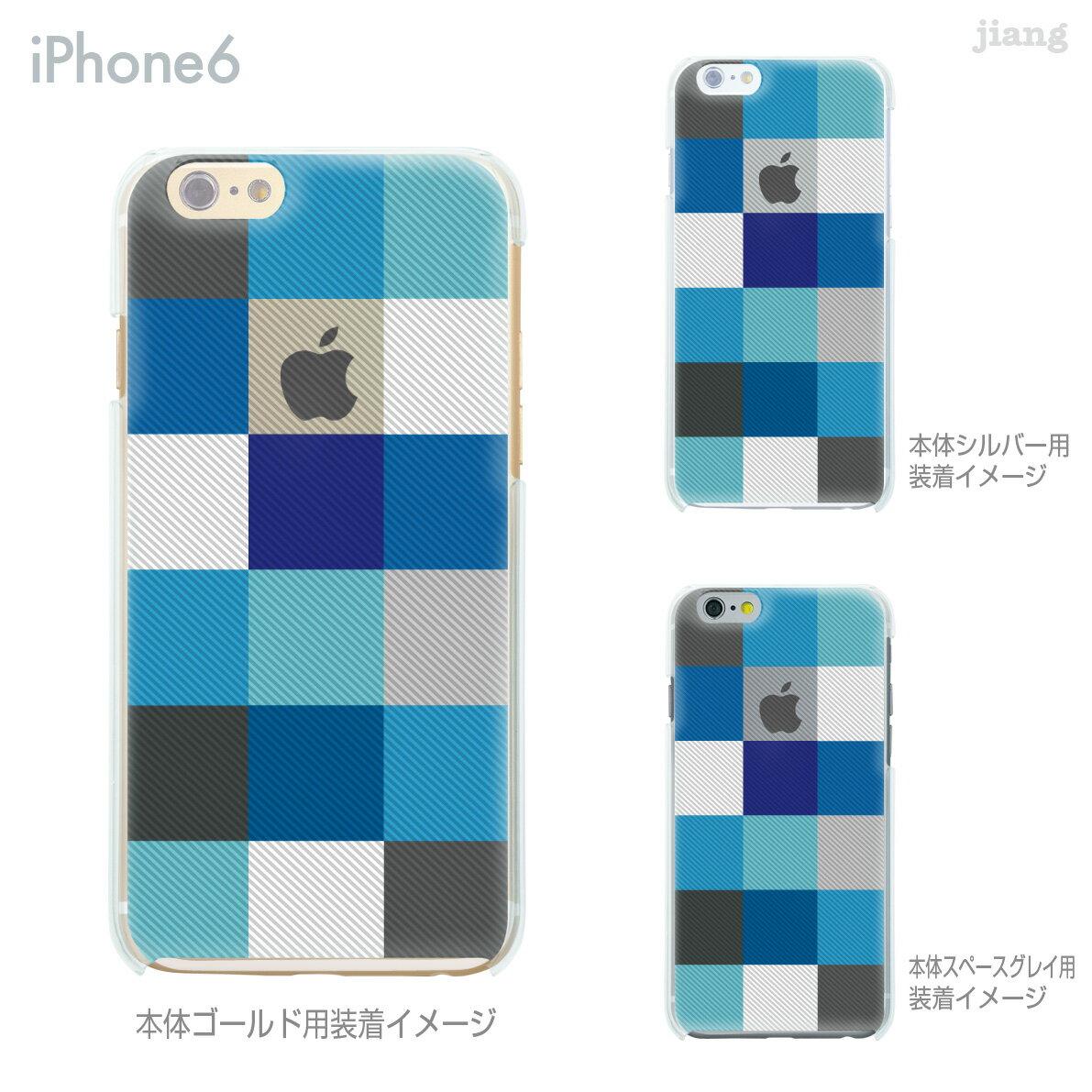 iPhoneX iPhone X ケース iPhone8 iPhone7ケース iPhone7 Plus iPhone6s iPhone6 Plus iphone ハードケース Clear Arts ケース カバー スマホケース クリアケース チェック柄 06-ip6-ca0032bl-s