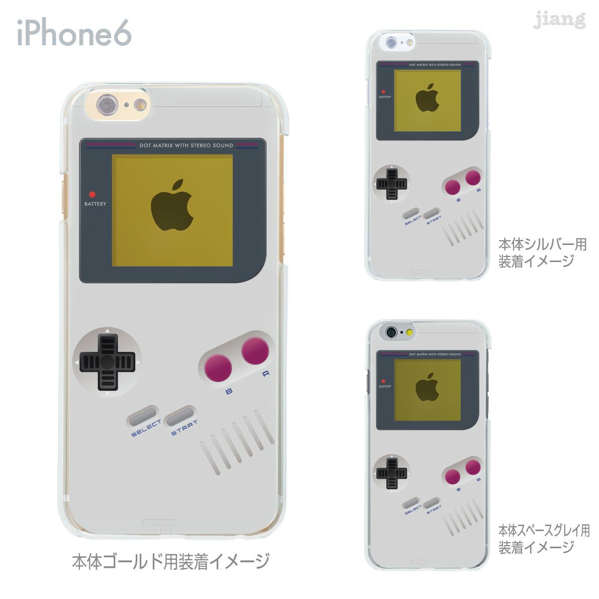 iPhone6s iPhone6 Plus iphone ケース スマホケース ハードケース Clear Arts カバー クリアケース かわいい 着せ替え イラスト 懐かしのゲーム機 08-ip6-ca0075
