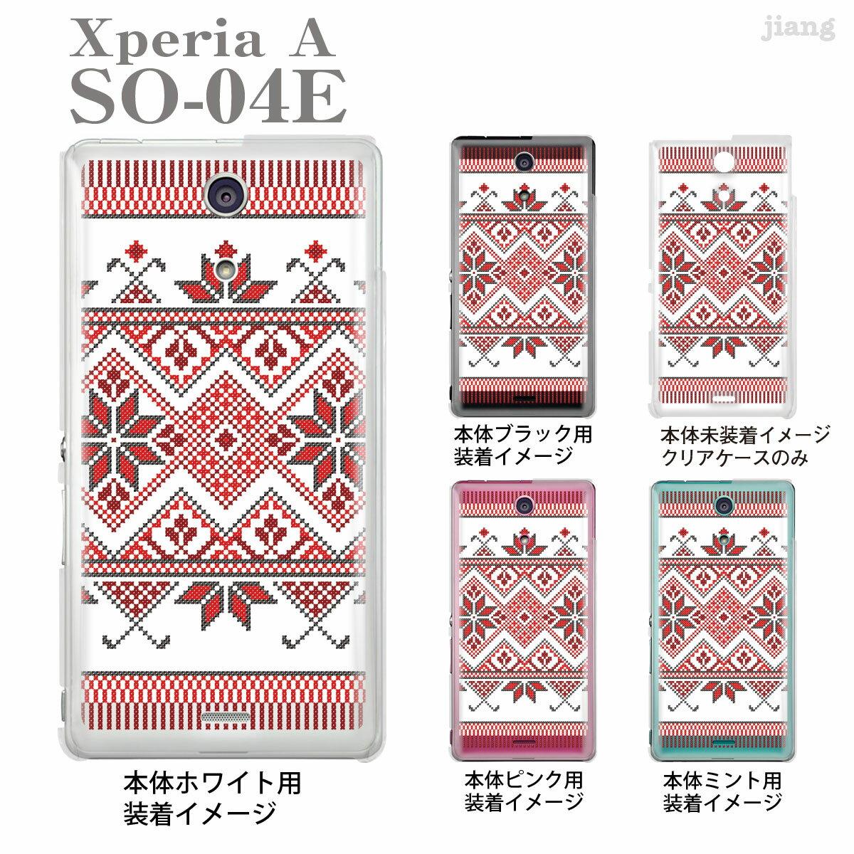 【Xperia A SO-04E】【SO-04E】【docomo】【ケース】【カバー】【スマホケース】【クリアケース】【チェック・ボーダー・ドット】【ノルディック柄】 06-so04e-ca0074