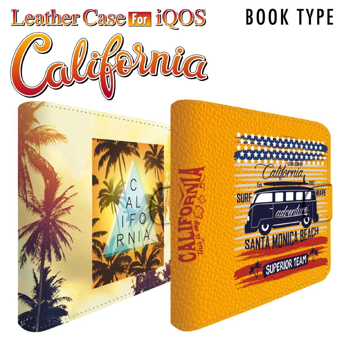 アイコスケース iQOS アイコス 専用 ケース カバー 合皮 レザー ケース ストラップ付 クリーナー ヒートスティック 収納 iCOSケース アイコスカバー iCOSカバー シンプル おしゃれ 革 人気 便利 電子たばこ カリフォルニア iq04-ds007