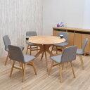 ダイニングテーブルセット 丸テーブル バースト 幅110cm 7点セット クロス脚 sbkt110-7-pani339ok ナチュラルオーク色/NA-OAK LGE色 光線張り ダイニングセット 6人掛け 6人用 円形 丸型 円卓 テーブル 北欧 シンプル 大人数 食卓 アウトレット お客様組立品 32s-7k so
