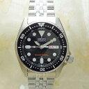 SEIKO SKX013K2 逆輸入セイコー 自動巻き ダイバー ブラック ボーイズサイズメンズ腕時計/ブラック