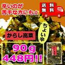【送料無料】からし高菜・ちょい辛(大薗漬物)90g×1袋【メール便対応】