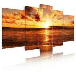 あす楽 送料無料絵画 インテリア 絵画 海 アートパネル 風景画 壁掛け Airbnb民泊シェアハウス装飾モダン 現代 海の景色 夜明けの海 おしゃれ 5枚パネルセット