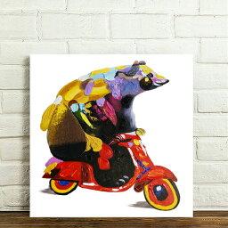 あす楽 絵画 熊 ペットの絵 油絵風かわいい熊(くま)の絵 モダンアート 絵画 芸術品Airbnb民泊シェアハウス装飾 インテリア雑貨  リビング 玄関 プレゼント店舗ディスプレイ 横50cm×縦50cm