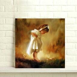 送料無料 あす楽 アートパネル ポスター 絵画 肖像 裸の足の少女 人物 油絵 芸術品 壁飾り キャンバス絵画Airbnb民泊シェアハウス装飾