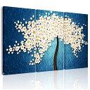 絵画 1本の桜の木  3パネルセット絵画 インテリア 油絵 風景画  モダンアートパネル 絵画 自然画 アート『お願い木』開運絵画 リピング 接客室 会議室 事務所 個人宅ではもちろん、プレゼントにも喜ばれています。送料無料