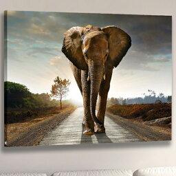 送料無料絵画 アートパネル 1匹の象 動物インテリア モダンアート 壁飾りAirbnb民泊シェアハウス装飾 キャンバス絵画 DIY油絵 アートパネル完成品 横75cm×縦50cm