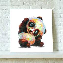 あす楽 送料無料 絵画 パンダ panda アートパネル 絵画  伊達メガネのかわいいパンダくん 油絵風 インテリア 壁掛け Airbnb民泊シェアハウス装飾