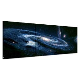あす楽 送料無料 アートパネル ギャラクシー 美しい銀河 広い宇宙の神秘 絵画 インテリアAirbnb民泊シェアハウス装飾 壁掛け 絵画 宇宙 星空 横50cm×縦50cm*3枚パネルセット