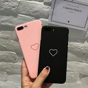 iPhone Case Heart Simple Black...