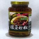 TOEI 酸菜辣椒 365g/瓶(唐辛子入り高菜漬け具入りラー油)台湾激辛辣油
