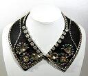 【送料無料!】 フラワーデザインの ラインストーン の つけ襟付け襟 つけ衿 付け衿