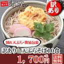 【訳あり】天ぷらそばお試しセット 10食 1,700円+税 送料無料 TSM-13 ロングライフ麺 常温保存