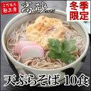 天ぷらそば お試しセット 1ケース 10食 そば 送料無料 TSM-13 ロングライフ麺 常温保