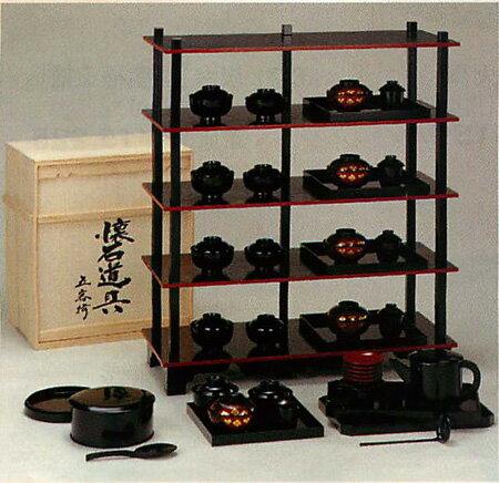【茶器 茶道具】懐石道具 五客揃 木製 木箱付