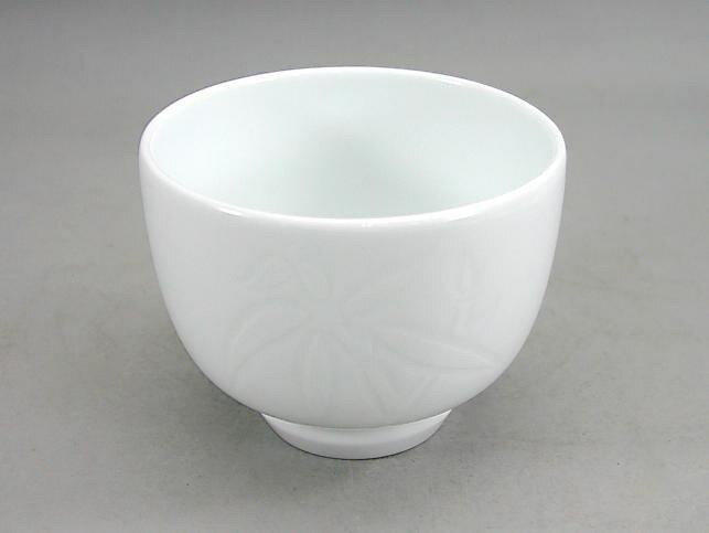 人間国宝 井上萬二作 白磁笹彫文抹茶?