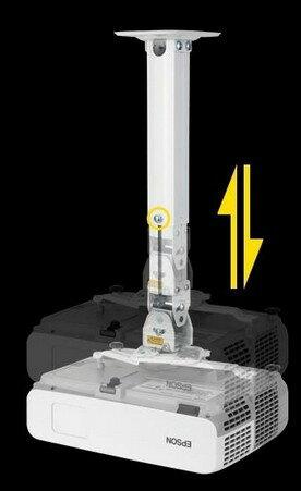 2色モニターアーム天吊金具 天吊り金具 壁掛け対応 プロジェクターブラケット最新2色 液晶TV、モニター10-26イン対応