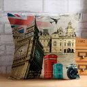 メール便送料無料 綿麻 BZT041 北欧  クッションカバー 花柄 45cm×45cm 結婚祝い 新築祝い クッションカバー
