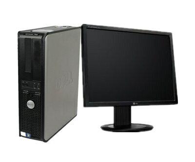【あす楽対応】【中古PC】人気商品再入荷!中古パソコン(Windows 7 Pro 64bit) 19型液晶セット/DELL Optiplex 780 DT Core2Duo E7500 2.93G/4G/250GB/DVD-ROM(780DT)