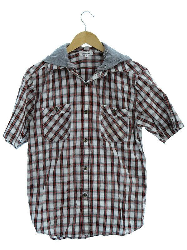 【JUNGLE STORM】【アウター】ジャングルストーム『フード付コットンシャツ sizeM』メンズ 1週間保証【中古】
