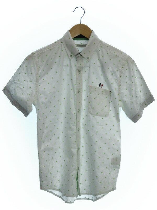 【003 NEVER ENDING LAND】【トップス】003 ネバーエンディングランド『クローバー柄半袖シャツ sizeM』メンズ 1週間保証【中古】